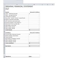 personnal financial statement personal financial statement excel flexible snapshoot large