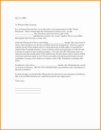 9 Recommendation Letter For Teachers Art Resumed