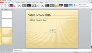 Ppt Templates Microsoft 2010 Applying Themes In Word Excel And Powerpoint 2010 For Windows