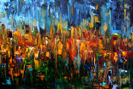 abstract acrylic painting ideas