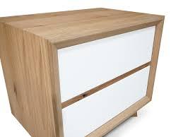 felix scandinavian white gloss w oak bedside table