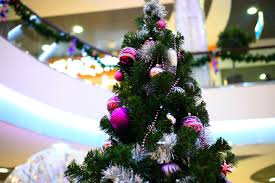 christmas decoration office. Shopping Mall Interior Decorated With Christmas Tree Decoration Office