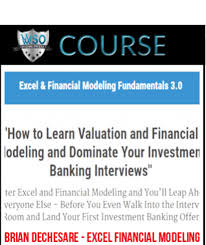 Brian Dechesare Excel Financial Modeling Fundamentals