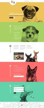 Dog Web Design Dog Responsive Landing Page Template Web Design Web