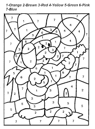 Small Picture Coloring By Numbers Coloring Pages for kids Preschool