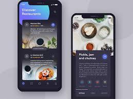 restaurant menu design app restaurants app dark mode uplabs