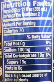 brisk iced tea mango nutrition facts