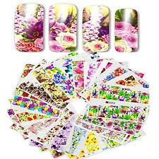 1set 48pcs <b>mixed</b> full cover wrap nail art watermark sticker beautiful ...