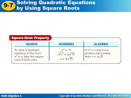 solving equations by taking square roots math example using square roots to solve solving quadratic equations