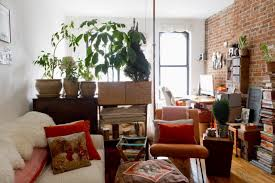 Brick Wall Decor With Eclectic Accessories For Unique Decorating Ideas For  Apartments With White Sofa Set