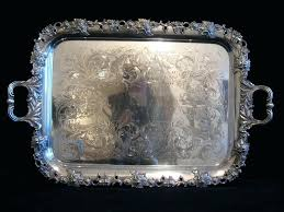 silver serving tray with handles antique silver serving trays antiques classifieds antiques antique silver antique wooden silver serving tray with handles