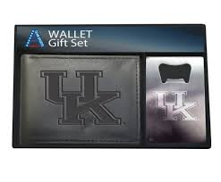 cky wildcats mens wallet bottle opener gift set