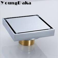 xcm solid brass modern bathroom tile invisible shower square floor drain cover catcher hair for umbra
