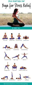 yoga flow for stress relief free pdf this printable yoga sequence is perfect for relieving stress and anxiety yoga stressrelief