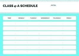Fitness Class Schedule Template