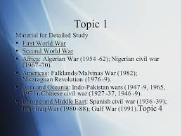 external assessment paper world history topics paper  5 topic 1 material for detailed study iuml130sect first world war
