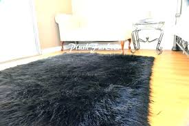 fur area rugs faux fur rug faux fur area rug 5 x 7 black faux fur