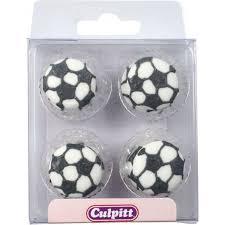 Edible Soccer Ball Cake Decorations Culpitt pk 100 FOOTBALL edible icing pipings cake cupcake 34