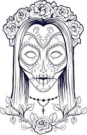 Small Picture 41 best Sugar Skull Colouring Pages images on Pinterest Coloring