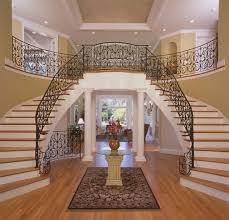 Foyer staircase traditional-entry