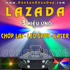 Đèn LED LaZaDa 3 hiệu ứng Chớp lai - LED hiệu ứng - Laser trang trí phòng  hát Karaoke