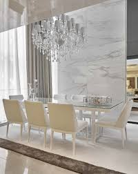 crystal dining room for luxurious impression. LUXURY DINING ROOM | Marble Walls And Statement Chandelier Are Beautiful Www.bocadolobo.com #diningroomdecorideas #moderndiningrooms Crystal Dining Room For Luxurious Impression L