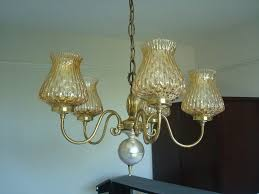 rare antique solid brass victorian 5 arm pendant light chandelier