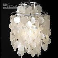 verner panton design shell pendant light for cage pendant light