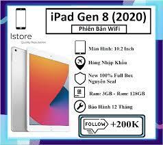 Máy Tính Bảng Apple iPad 10.2 2020 (Gen 8) - Wifi - 3GB/128GB - Hàng Nhập  Khẩu - Bảo hành 12 tháng - Trả góp 0%