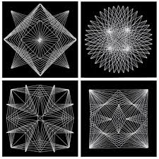 Geometric String Art Patterns Custom This Project Shows You How To Make Intricate Geometric String Art