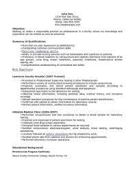 Phlebotomist Job Description Resume Legalsocialmobilitypartnership Com