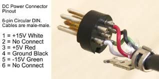technical information analog modular for electronic 6 pin circular din connectors