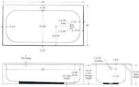 typical bathtub dimension standard size bathtub typical