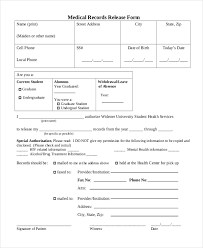 Sample Medical Records Release Form Free 10 Sample Medical Records Release Forms Pdf