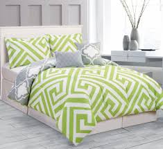 lime green and grey bedding sets throughout green bedding