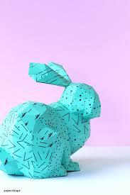 Easter Template How To Make 3d Paper Bunny Craft Template Papershape
