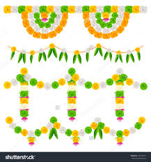 Indian Festival Decoration Illustration Tri Color Flower Arrangement India Stock Vector
