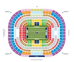 La Rams Seating Chart Rams Stadium St Louis Rams Stadium Seating Chart