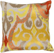 surya area rugs accent pillow ar 072 golden yellow pillows bedding free at powererusa com