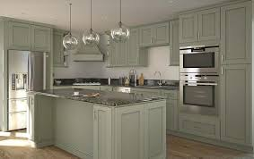 partial overlay sage green kitchen cabinets