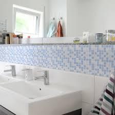 Fliesen Bordüre Mosaikfliesen Hellblau 60x30 Fliesensticker Set