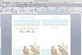 Wedding Template Microsoft Word Free Printable Wedding Invitation Template Set Birds