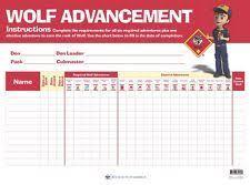 Wolf Advancement Chart Den Advancement Chart Cub Scouts Wolf Den Cub Scouts