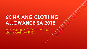 Bulletin Government Employees To Get P6 000 Clothing Allowance In