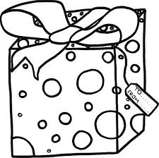 Small Picture Gift Coloring Pages Christmas Present Coloring Pages Doozink With