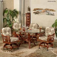 tropical dining room furniture. Unique Room Leikela Oval Dining Table With Caster Chairs Set Of Five With Tropical Room Furniture