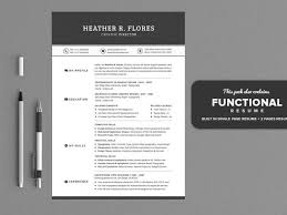 Functional Resume Templates Awesome Premium Functional Resume Templates