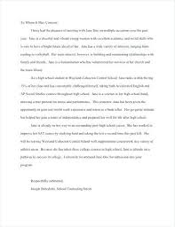 High School Recommendation Letter For Student Reference Letter Template For School