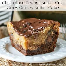 Chocolate Peanut Butter Ooey Gooey Butter Cake Recipes Food And