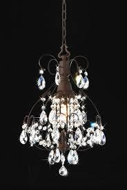 emmalyn brushed oak 1 light teardrop crystal chandelier 6 5 h x 12